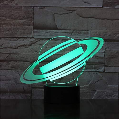 Nur 1 Stück 3d Illusion Led Lampe Star Planet Touch Switch 7 Farbwechsel für Home Office Raumdekoration Geschenk für Kinder Led Nachtlicht 3d