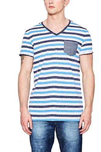 Edc by Esprit 047cc2k070 T-Shirt, Bleu (Navy 400), Medium Homme