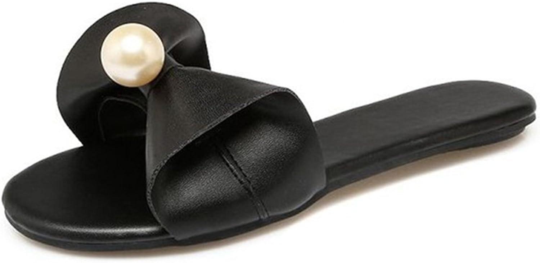 Mageed New Women Flip Flops Beach Sandals Fashion Bling Pearl Slippers Summer Women Flats shoes