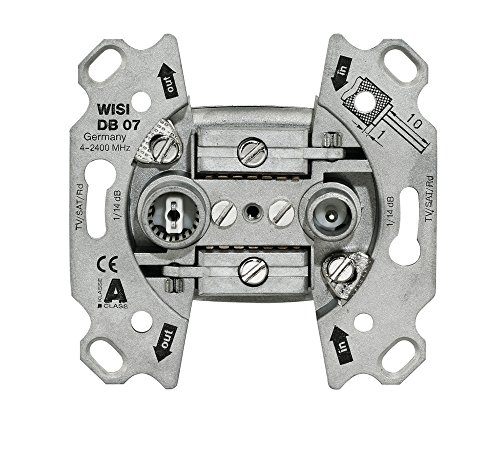 WISI DB 07, Universal Antennendose, 2-Loch Durchgangsdose 14 dB