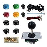 SJJX DIY Arcade Game Button and Joystick Controller Kit for Rapsberry Pi and Windows,5 Pin Joystick...
