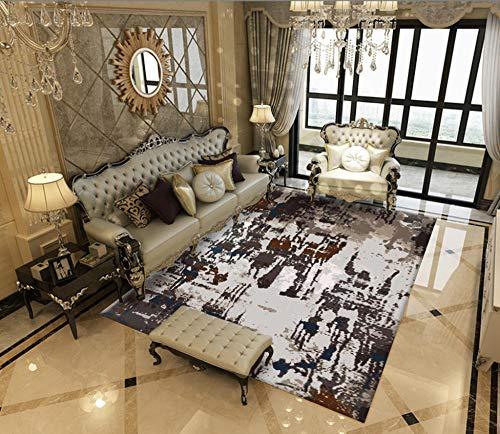 GOODJIA Carpet Kunstseide Teppich Vintage Ornament,6MM Dicke Ultra Leichter und Softer Flor mit edlem Seidenglanz,140x200CM