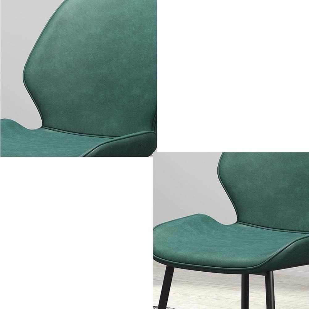 DALL Chaises De Salle À Manger Siège en PU Chaise De Table Jambes De Métal Noir Chaise De Dossier De Restaurant Bureau Chaises De Réception (Color : Brown 1) Green 1