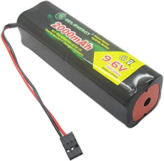QBLPOWER 9.6v 2000mAh NiMH Battery Pack with Hitec Connector Square Futaba NT8S600B Transmiter for RC Cars Airplanes Heli Sailplanes