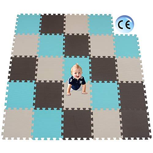 XMTMMD Suelo para Ninos Y Infantiles EVA Puzzle ColchonetaPara Ninos Y Infantiles EVA Puzzle Colchonetas Puzzle Rompecabezas para Cubrir el Suelo 24 Piezas Play Mat Set AMT106108110G301024