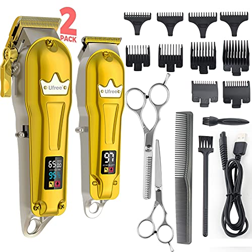 Ufree Hair Clippers for Men + T-Blade Trimmer Kit, Professional Hair Cutting Kit Beard Trimmer...