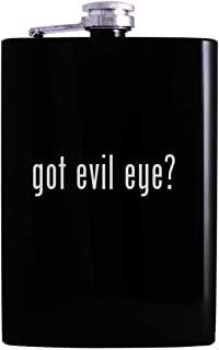got evil eye? - 8oz Hip Alcohol Drinking Flask, Black