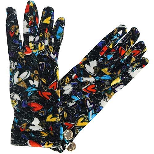 Moschino bedruckte Handschuhe mit Herzen, One Size, Multicolor