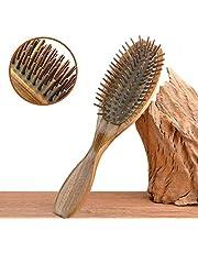 Kamenda Sandel trä hårborste trä naturlig handgjord utredande massage hårkam med presentförpackning