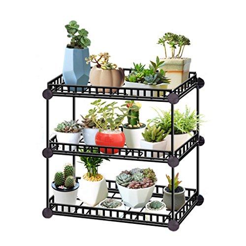 & Pot rack Support d'affichage de plantes en pot pour l'utilisation de jardins intérieurs et extérieurs Pots à fleurs décoratifs (Couleur : 3)