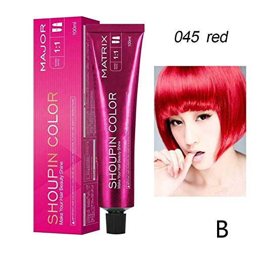 LCJDD Ammonia Free Hair Color, Mild Safe Permanent Hair Color Many Colors Can Be Selected, Hair Coloring Mild Hair Dyeing for All Hairs – Best (Color : Red)