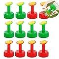 12Pcs Bottle Top Waterers Sprinkler, Plastic Plant Watering Spike Sprinkler Head Automatic Watering Irrigation Nozzle