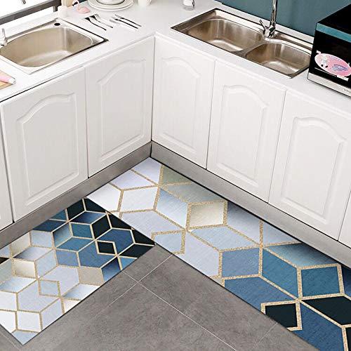 HLXX Alfombra de Cocina Antideslizante para Piso Alfombra de baño Moderna Alfombra de Entrada Tapete Alfombras de área de Moda Alfombra de Dormitorio de Estar A4 50x80cm + 50x160cm