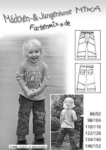 Mika Farbenmix Schnittmuster (Papierschnittmuster für die Größen 86/92 - 146/152), Hose