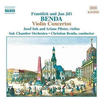 BENDA, F. / BENDA, J. J.: Violin Concertos in G Major, D Major and D Minor