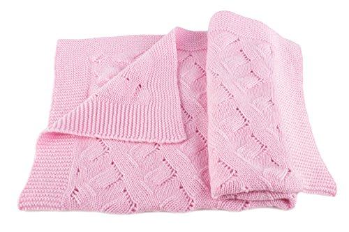 Love Cashmere Mädchen Luxus 100% Kaschmir Babydecke - 'Babyrosa' - Handgefertigt in Schottland - UVP €280