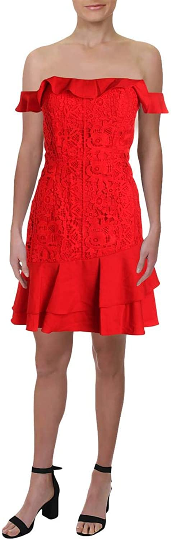 Jarlo Womens goldie Crochet OffTheShoulder Cocktail Dress