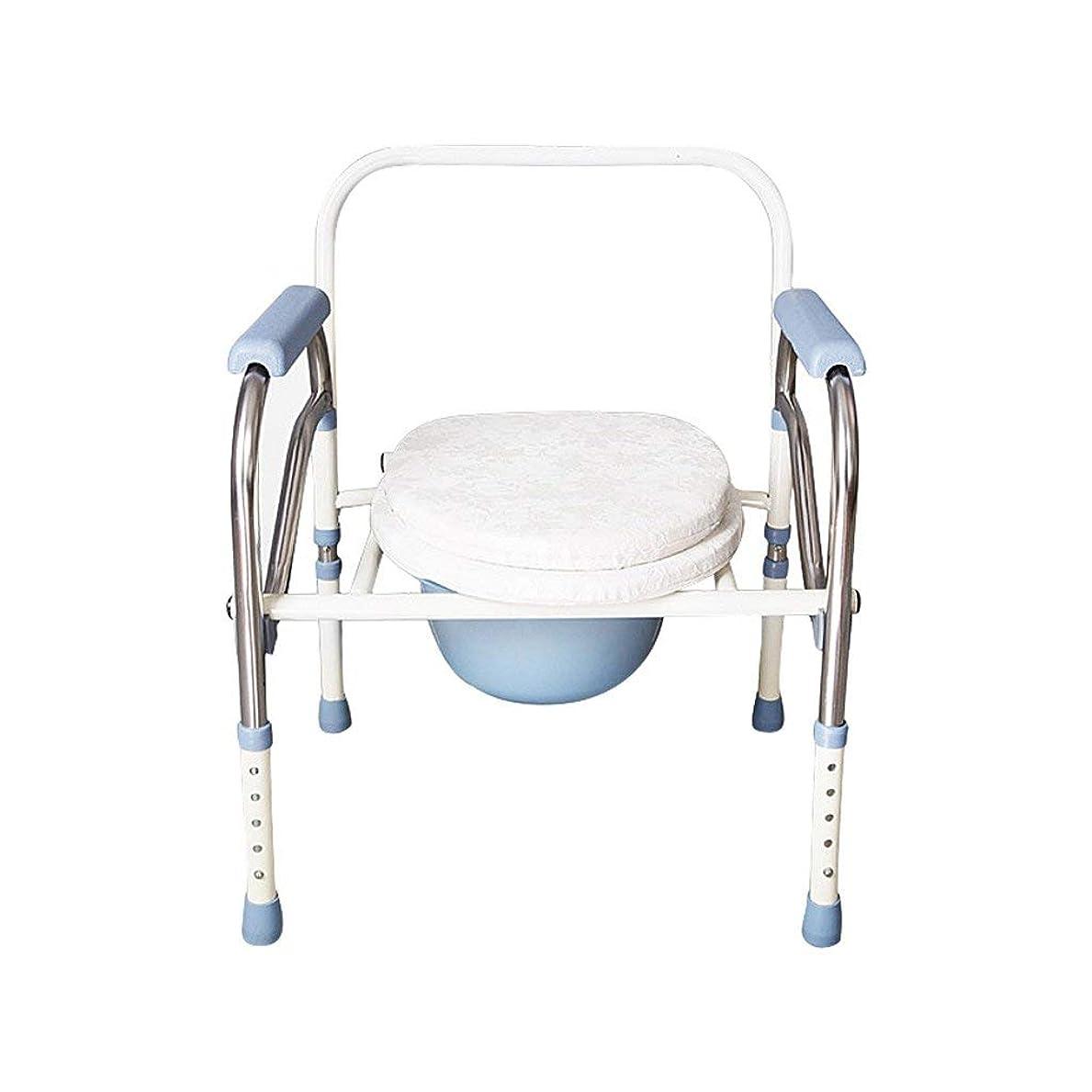 発揮するラブ正義折りたたみ式便座椅子パッド入り便座浴室滑り止め調節可能高さ浴室シャワースツール高齢者/妊婦/身体障害者トイレチェア