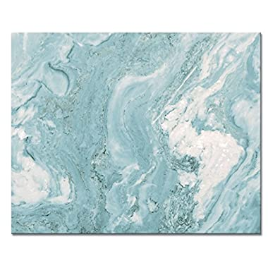 CounterArt 'Teal Quartz' Glass Cutting Board, 15 x 12