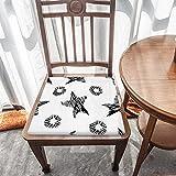 Cojín de espuma viscoelástica, diseño geométrico negro, comodidad superior y suavidad, lavable, asiento de coche, silla de oficina/sillas de comedor
