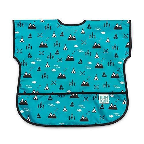 Bumkins Junior Bib, Short Sleeve Toddler Bib, Smock for Kids 1-3 Years, Waterproof Fabric – Outdoors