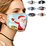 YICHUMY 6 Packs Christmas Adults Mask Mouth Cover Reusable Washable, Holiday Decorative Masks for Women and Men