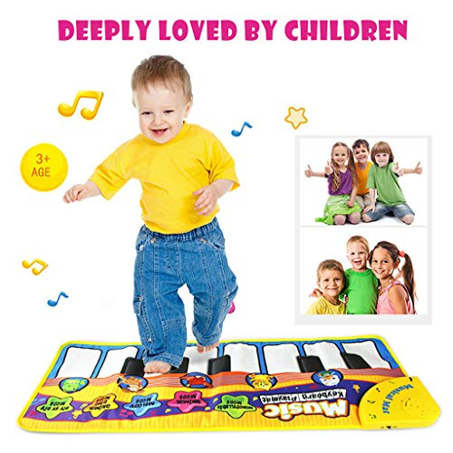 Kids Musical Mats - Children Crawling Piano Carpet, Music Piano Keyboard Dance Floor Mat Carpet Blanket Touch Playmat Early Education Toys for Baby Girls Boys Best Gift