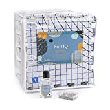 KnitIQ Blocking Mats for Crochet Bundle with Wool Wash – 9 Extra Thick Crochet Blocking Boards, 100 T-pins + KnitIQ No Rinse Delicate Wash 4 fl. oz for Blocking Crochet & Needlework