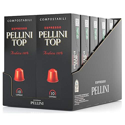Pellini Caffè Top Arabica 100%, Nespresso-kompatible Kapseln und Selbstgeschützte KOMPOSTIERBARE Kapseln (12 Packung mit 10 Kapseln, gesamt 120 Kapseln)