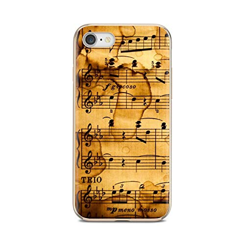 Notas musicales violín música clásica suave cubierta para Huawei P8 P9 P10 P20 P30 P Smart 2019 Honor Mate 9 10 20 8X 7A 7C Pro Lite-images 1-For P8 Lite 2016