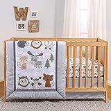 The Peanutshell Woodland Walk Crib Bedding Set for Boys or Girls   3 Piece Nursery Set   Crib Quilt, Fitted Sheet, Crib Skirt