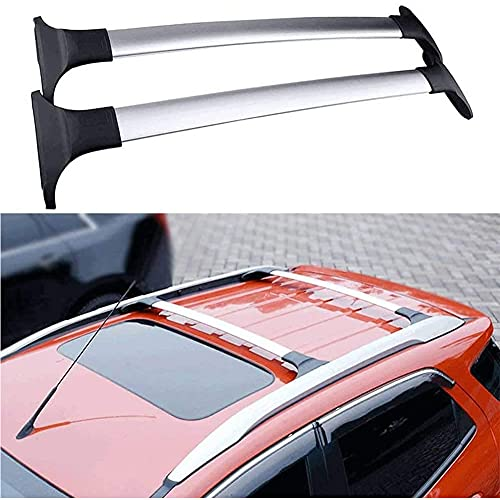 2 Piezas Barras de techo Portaequipajes para Ford Ecosport 2013-2021, De Aluminio Bacas Transversales Para VehíCulos Portabicicletas Transporte De Carga Con Cerradura
