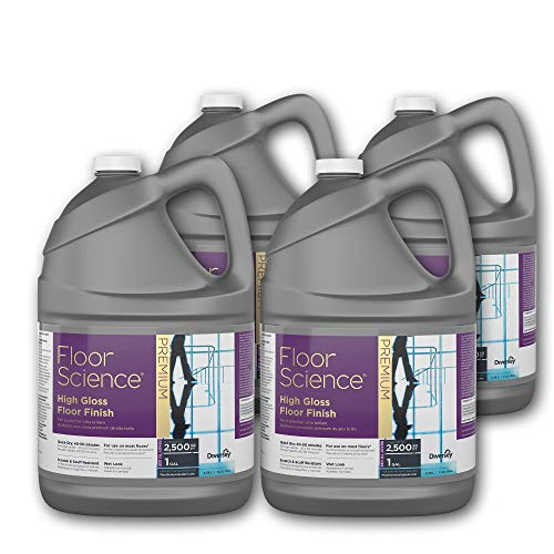 Diversey Floor Science Premium High Gloss Floor Finish, 1 Gallon - Covers up to 2,500 SQ FT (4 Pack)