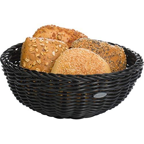Saleen Korb-Schale, Gastrotauglich, Rund, Durchmesser: 23 cm, Kunststofffaser, Schwarz, 02010319101