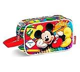 Karactermania Mickey Mouse Crayons Bolsa de Aseo, 21 cm, Rojo