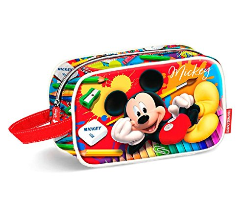 Karactermania Mickey Mouse Crayons-Teen Toiletry Bag Trousse de Toilette, 21 cm, Rouge (Red)