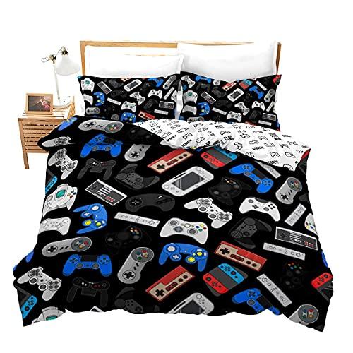 Homewish Jugendliche Gamepad Bettbezug Modern Spieler Trösterbezug Für Kinder Jungen Videospiel Bettwäsche Set Spieler Spielen Joystick Tagesdecke Bezug Atmungsaktiver Dekorativer Raum, 135X200