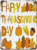 いいえビンテージレトロ金属錫記号壁装飾芸術幸せ感謝祭のメープルの葉の家ホーム装飾20 x 30 cm