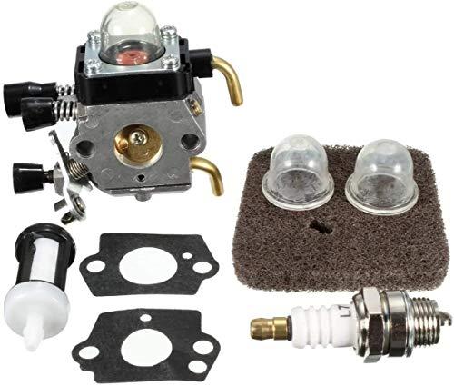 Reemplazar la chispa del motor de carburador Parte for Stihl FS45 FS46 Trimmer FS46C Zama carburador Carb Filtro de aire Juntas del carburador bulbo Carb equipo de suministros coche de gasolina Cuidad