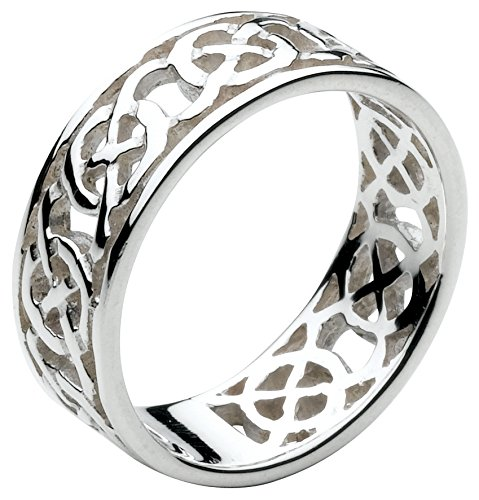 Heritage Sterling Silver Celtic Open Knotwork Edged Ring 2285HPW