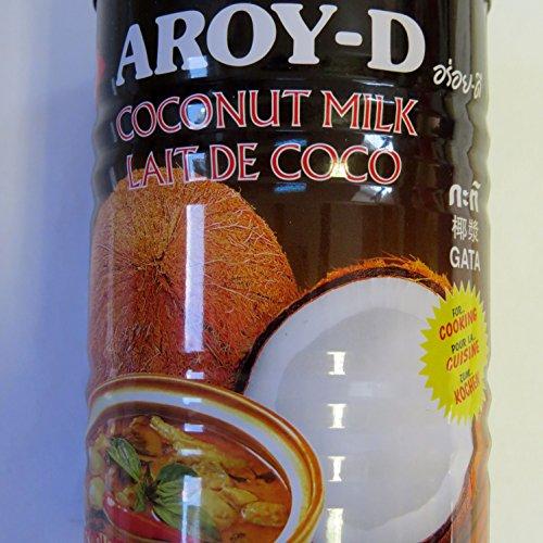 400ml KokosnussMILCH - zum Kochen von Aroy-D - ungesüßt - ohne Zusätze - KokosMILCH -
