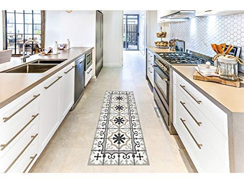 Oedim Alfombra Mosaicos Color Gris Marrón para Habitaciones 2 PVC   60 x 80 cm   Moqueta PVC   Suelo vinílico   Decoración del Hogar   Suelo Sintasol   Suelo de Protección  