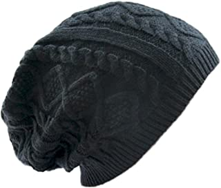 MIOIM Unisex Mens Womens Knitted Wool Winter Oversized Slouchy Warm Beanie Hat Cap