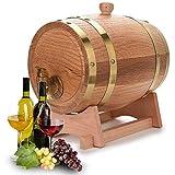 NZKW Roble Vino Barricas, Barril Whisky Envejecido, Artesanal Barril Roble Vino Roble Centeno Canadiense, Envejecimiento Whiskey Rum Port(3L)