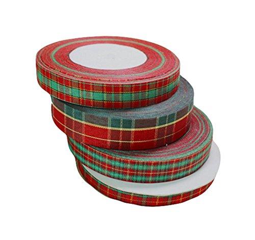 Demarkt Navidad Cinta de Poliéster Celebraciones Decoracion de Fiestas Corbata Escaparate Regalo 45M 1PCS Color Al Azar