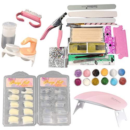 Brosse Nail Art Dust Brush Conseils Liquide Tampon Glitter Déco Outils Kit Complet Ensemble Photothérapie Combinaison Flash Poudre Outil Colle Débutant Manucure Kits