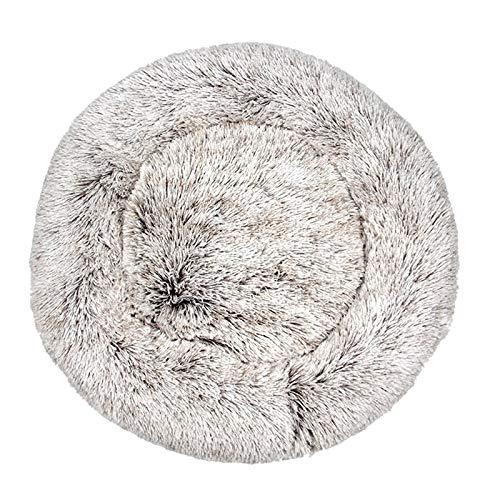 Cama para perros supersuave, redonda, lavable, de felpa, para perros, gatos, felpa, felpa, para chihuahua, canasta, cama para mascotas (color: N, tamaño: L: 60 cm)