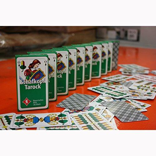 10 Pack Schafkopf-/Spielkarten mit je 36 Blatt mit Bayrischem Bild