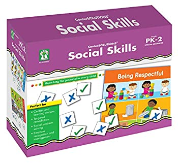 Key Education Social Skills Boxed Game Set—File Folder Game for PreK-2nd Grade Learning Communication Emotion Behavior Activities for Special Learners  15 pc