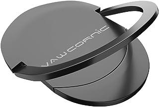 VAWcornic スマホ リング ホールドリング 薄型 スタンド機能 落下防止 車載ホルダー 360回転 iPhone/Android各種他対応 (ブラック)